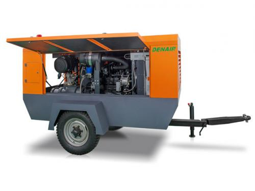 Inner Structure Drawing of Diesel Portable Compressor